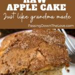 Raw Apple Cake Recipe Pin