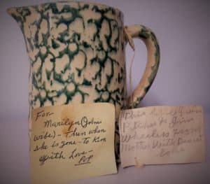 Little Green pitcher Know the story of family objects.