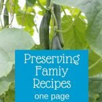 preserve family recipes