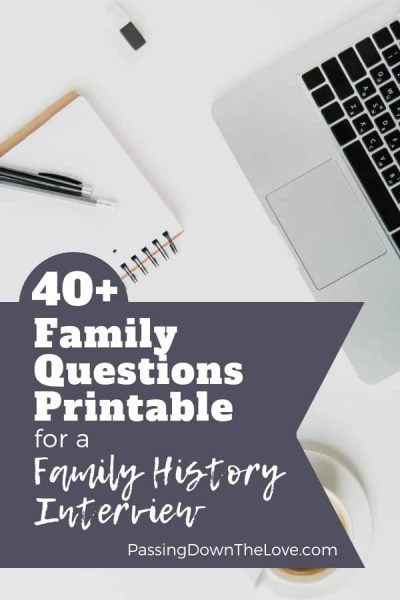 Family history interview questions printable