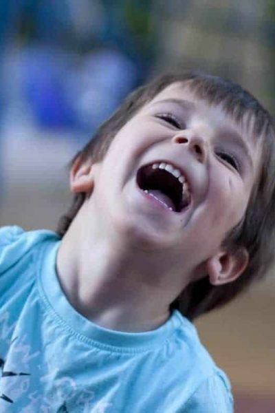 Laughter is the best medicine. Child laughing