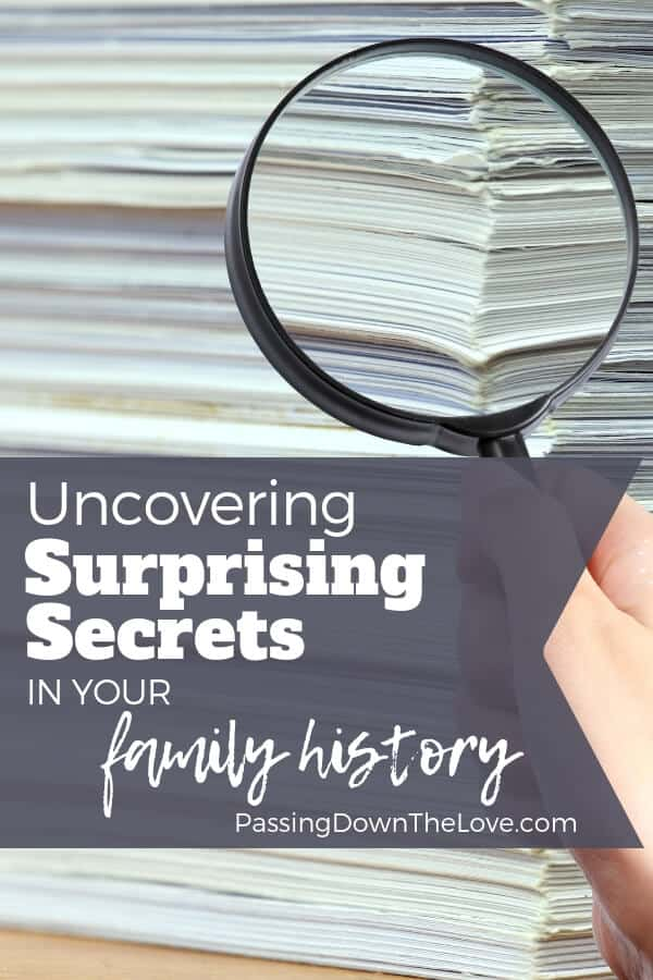 Discovering family secrets in your family history