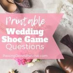 Printable Wedding Shoe Game