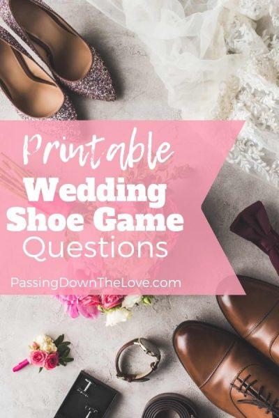 Printable Wedding Shoe Game