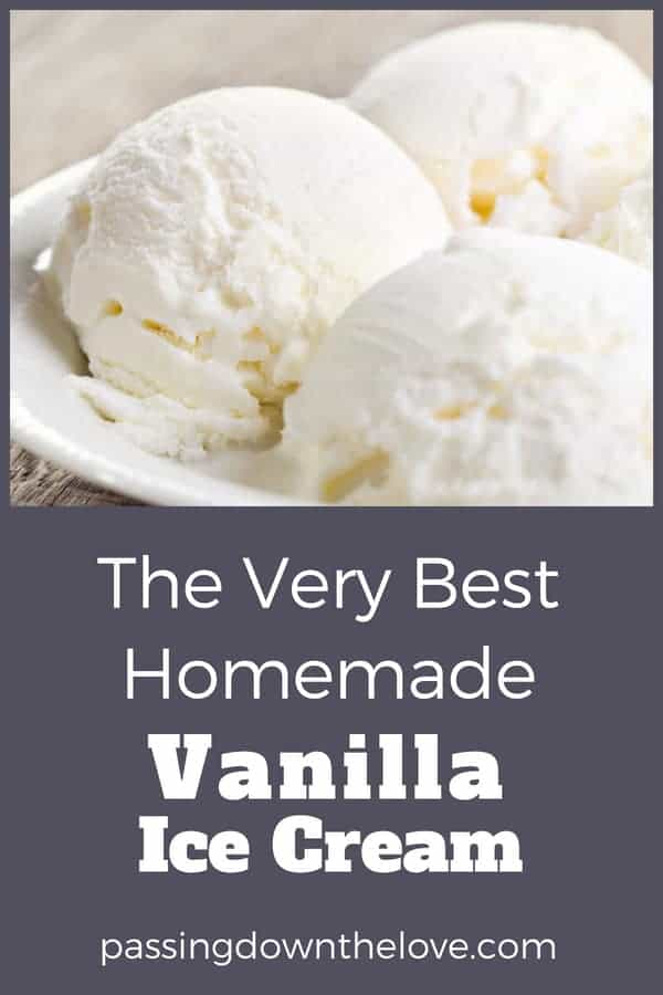 My Favorite Homemade Vanilla Ice Cream.  Delicious sweet treat, sure to please the crowd!  A summer