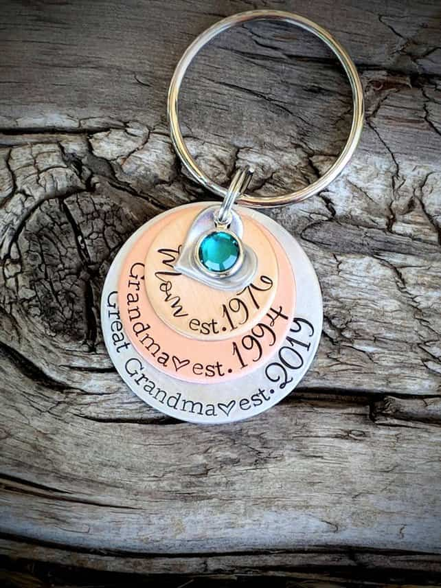 Personalized Grandma Key Chain Gift ideas for new Grandmas