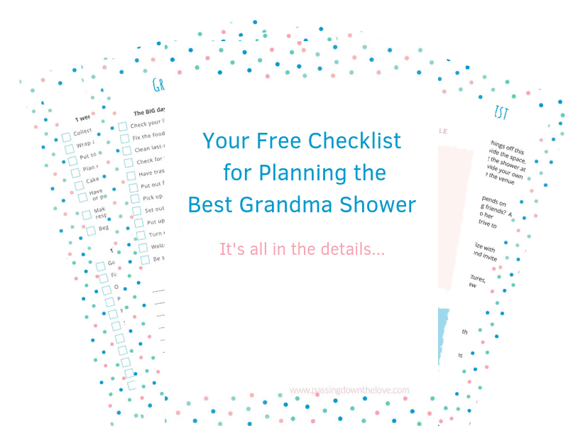 Grandma shower checklist