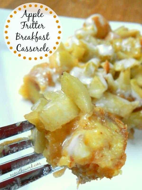 Apple Fritter Breakfast Casserole Breakfast casseroles kids will love