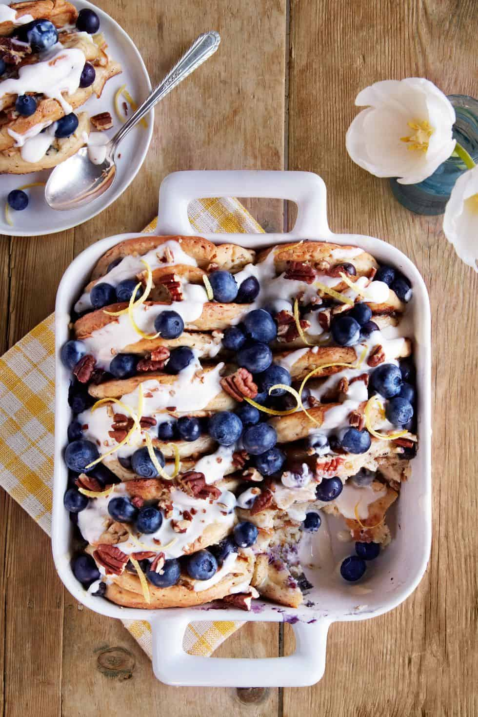 Breakfast casseroles kids will love. Blueberry pecan pancake bread pudding