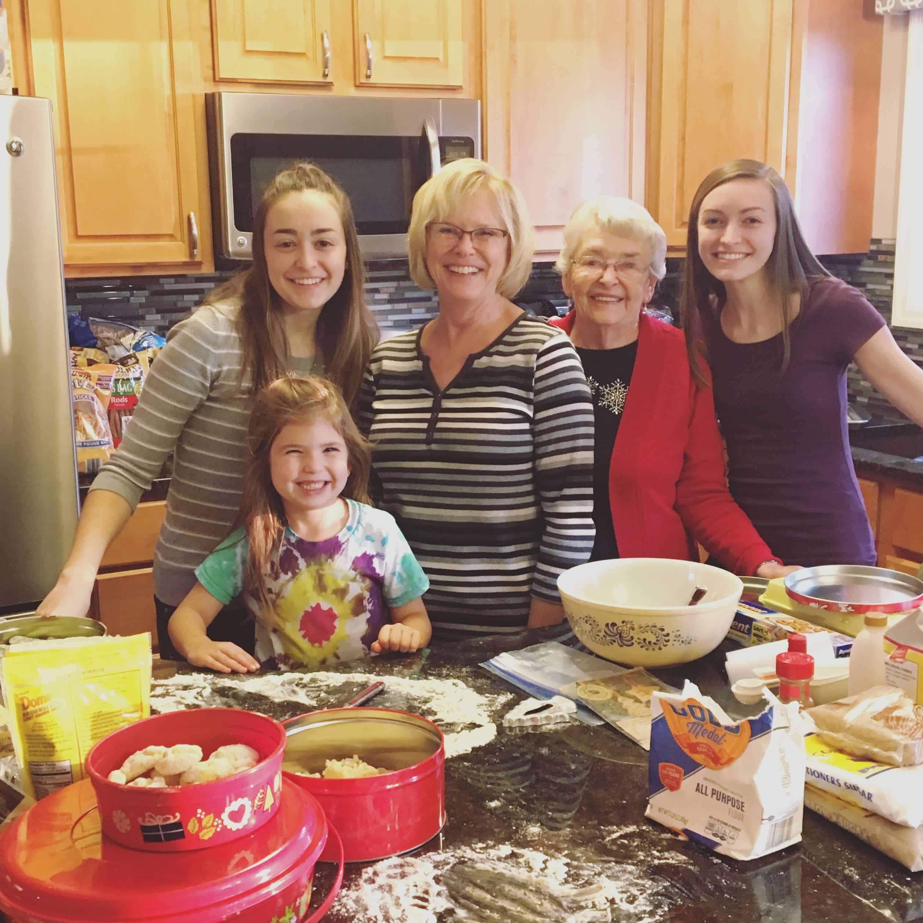 funnel cake rosette christmas cookies, making memories through baking