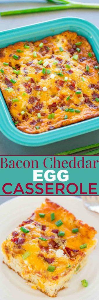 Bacon cheddar egg casserole Breakfast casseroles kids will love