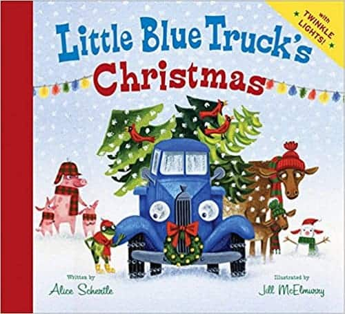 The Little Blue Truck Christmas book. Kid's favorite Christmas books.