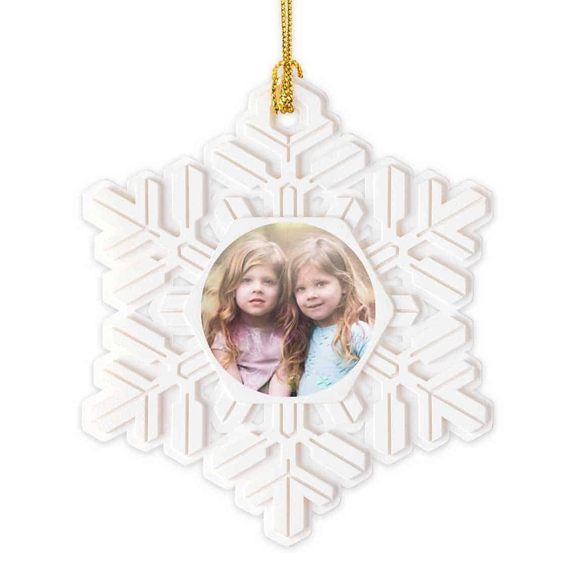 Gifts for new Grandmas snowflake Christmas ornament