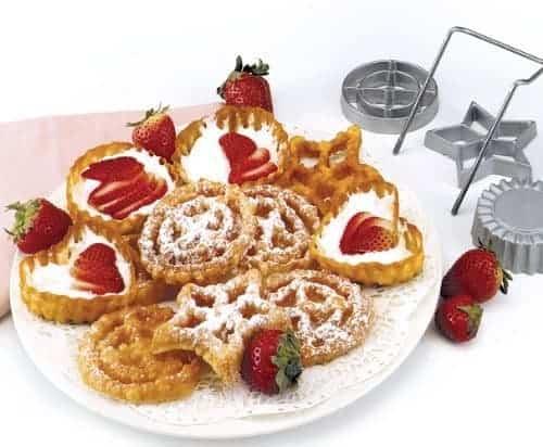 Funnel cake rosettes recipe