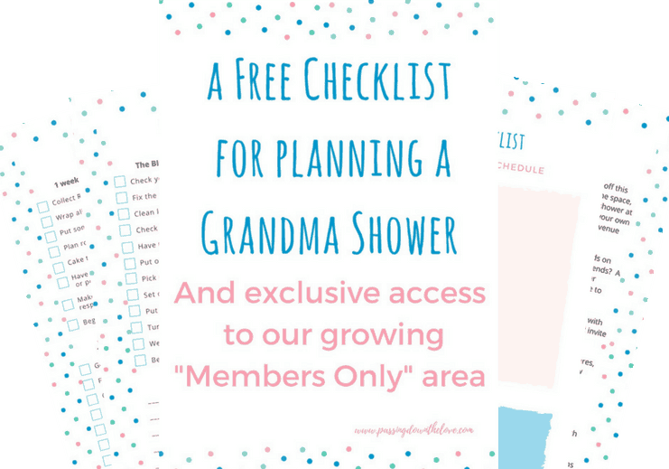 Grandmother Shower Planning Printable