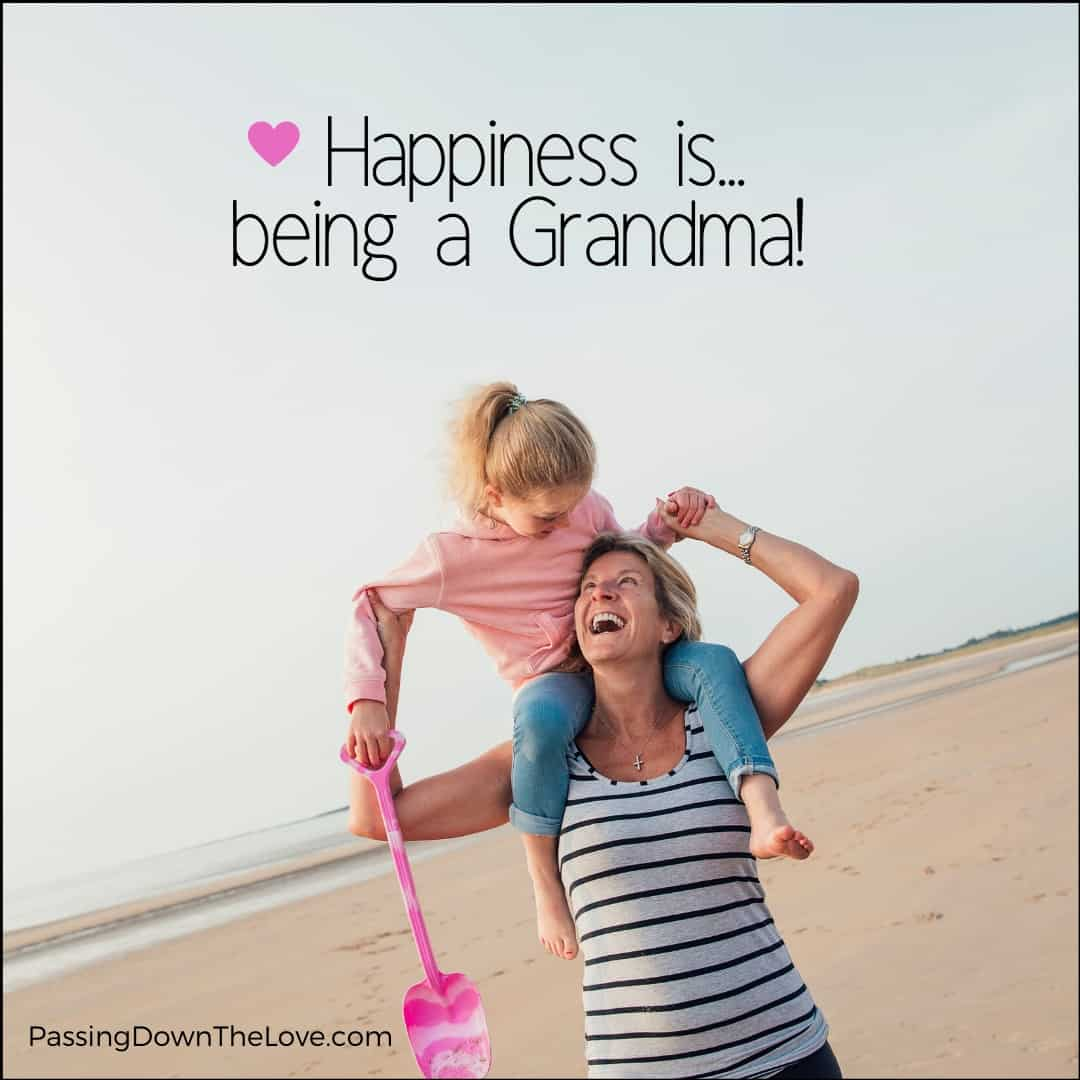 Happiness is being a Grandma quote