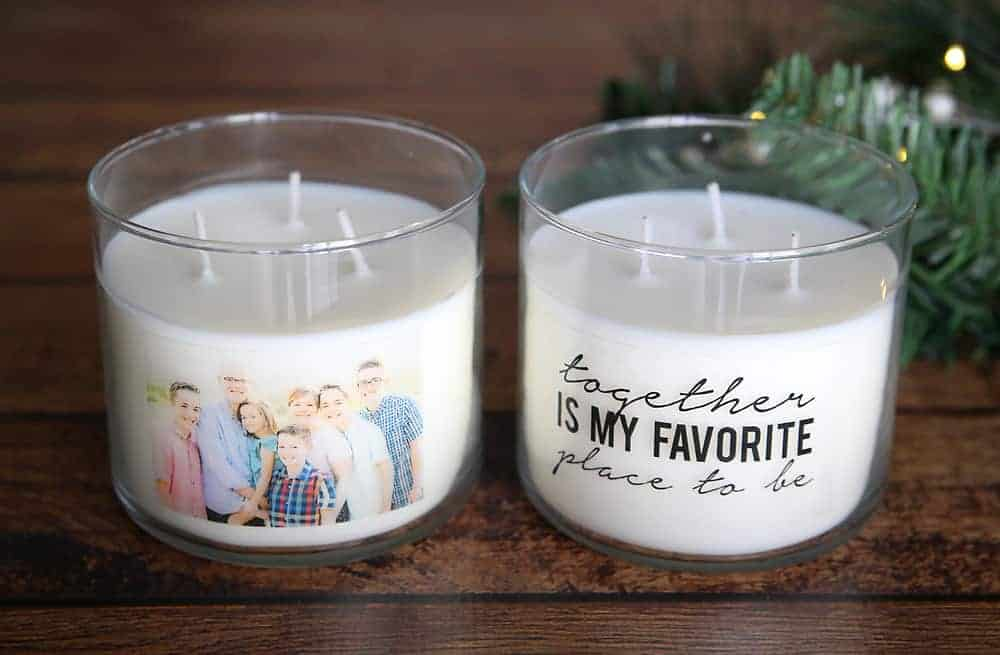 Making Personalized Photo candles