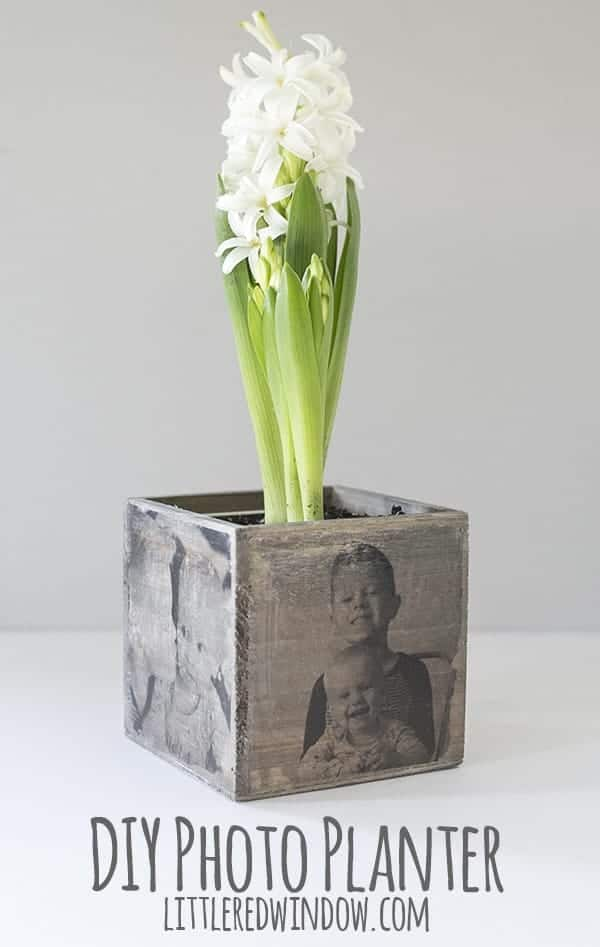Photo transfer to wood planter