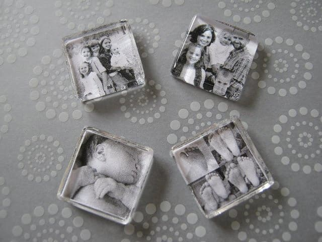 Personalized photo craft necklace