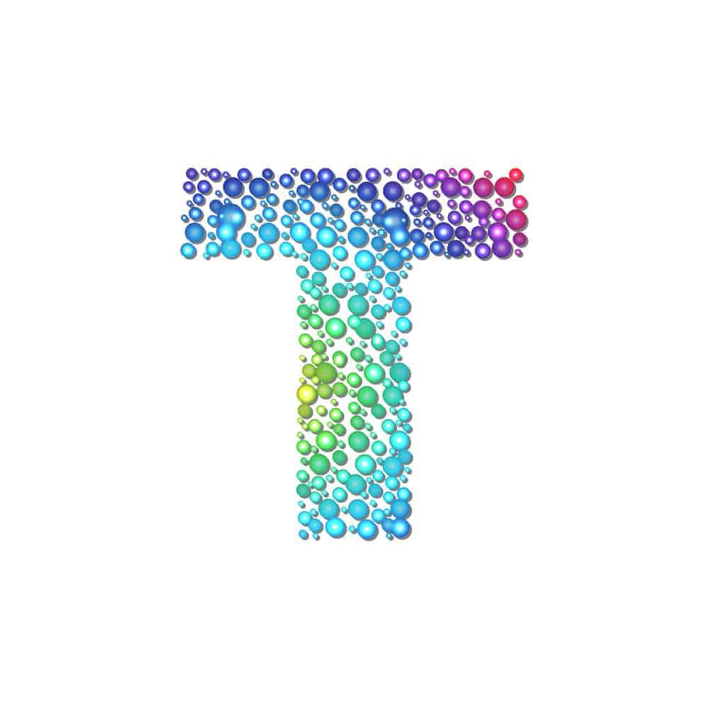 Rainbow circle alphabet, vector illustration, eps10, 3 layers, easy editable. See other alphabets in my portfolio!