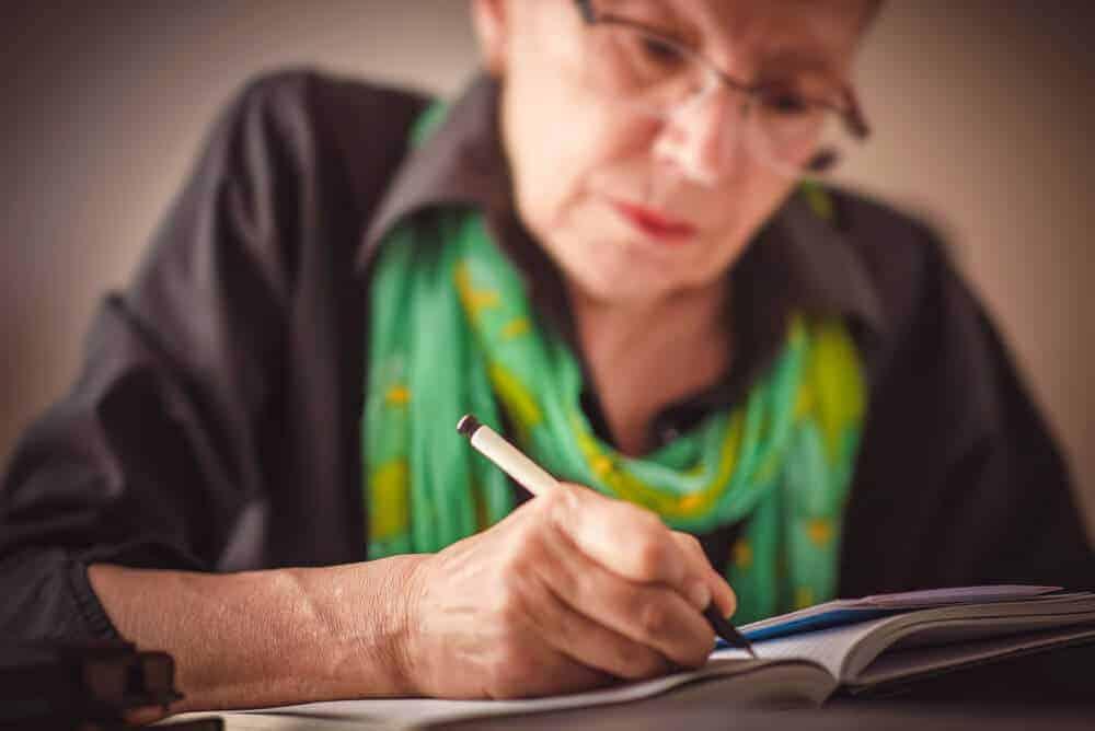 Grandmother journaling