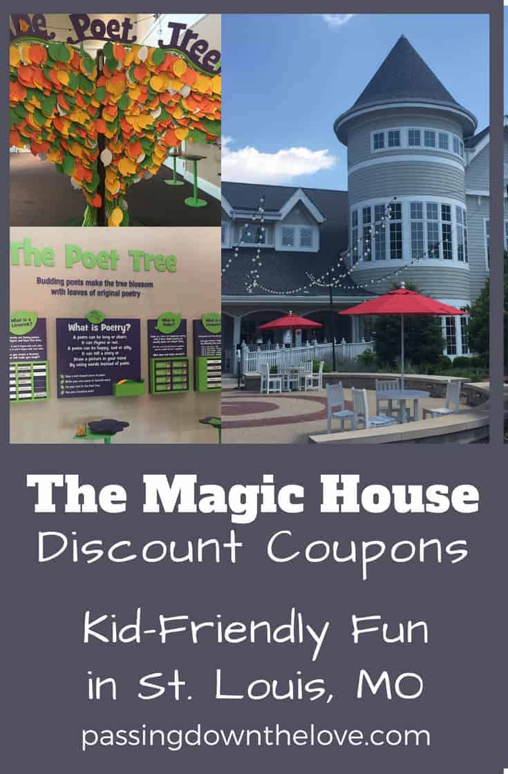 Find coupons to The Magic House in St. Louis. This children's museum provides an environment where children can learn through playing and exploring.  Who doesn't like coupons to the Magic House?