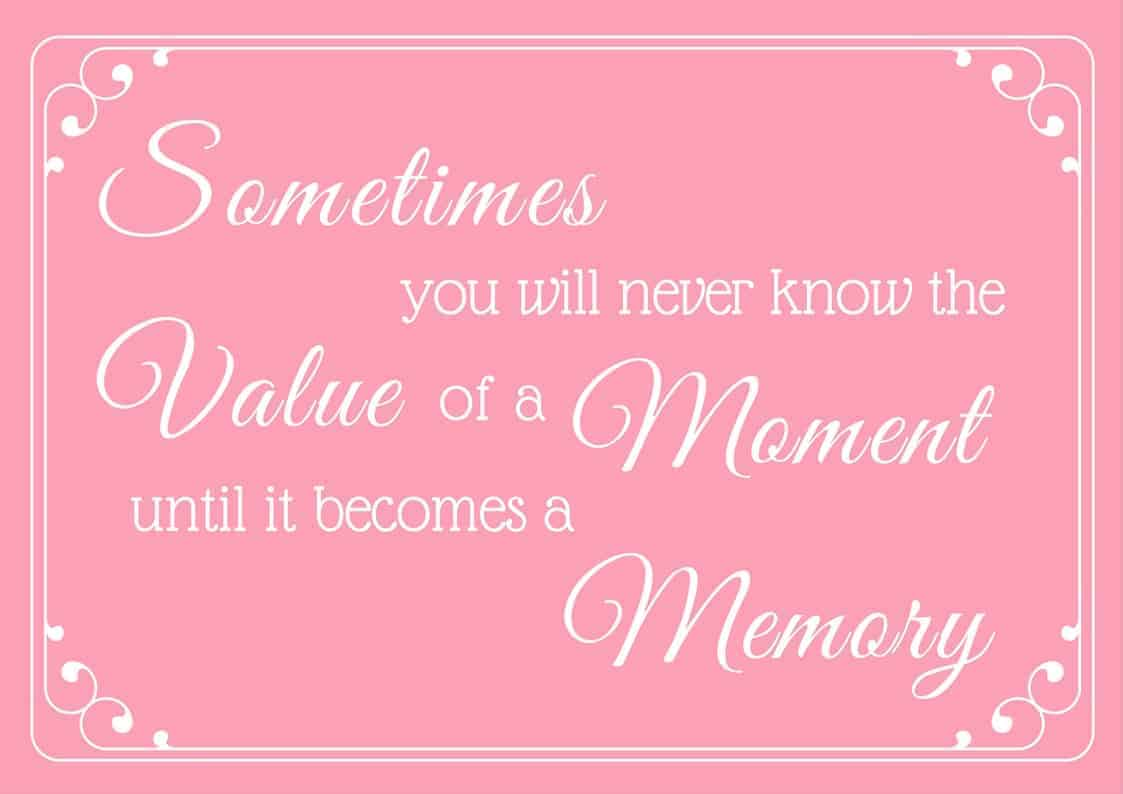 Value of a Moment PDF
