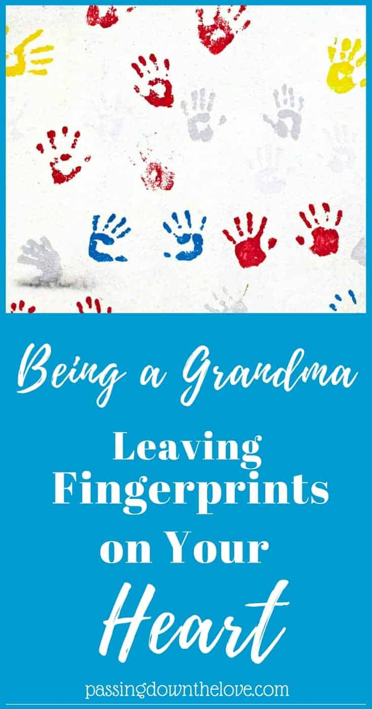 Grandchildren leave fingerprints on your heart. Here are some thoughts from a Grandma who feels lucky and blessed with a Grandparents love. #grandparents #love #grandchildren #fingerprints #heart