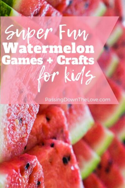 Watermelon games and crafts for kids