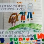 Kids pictures on the refrigerator