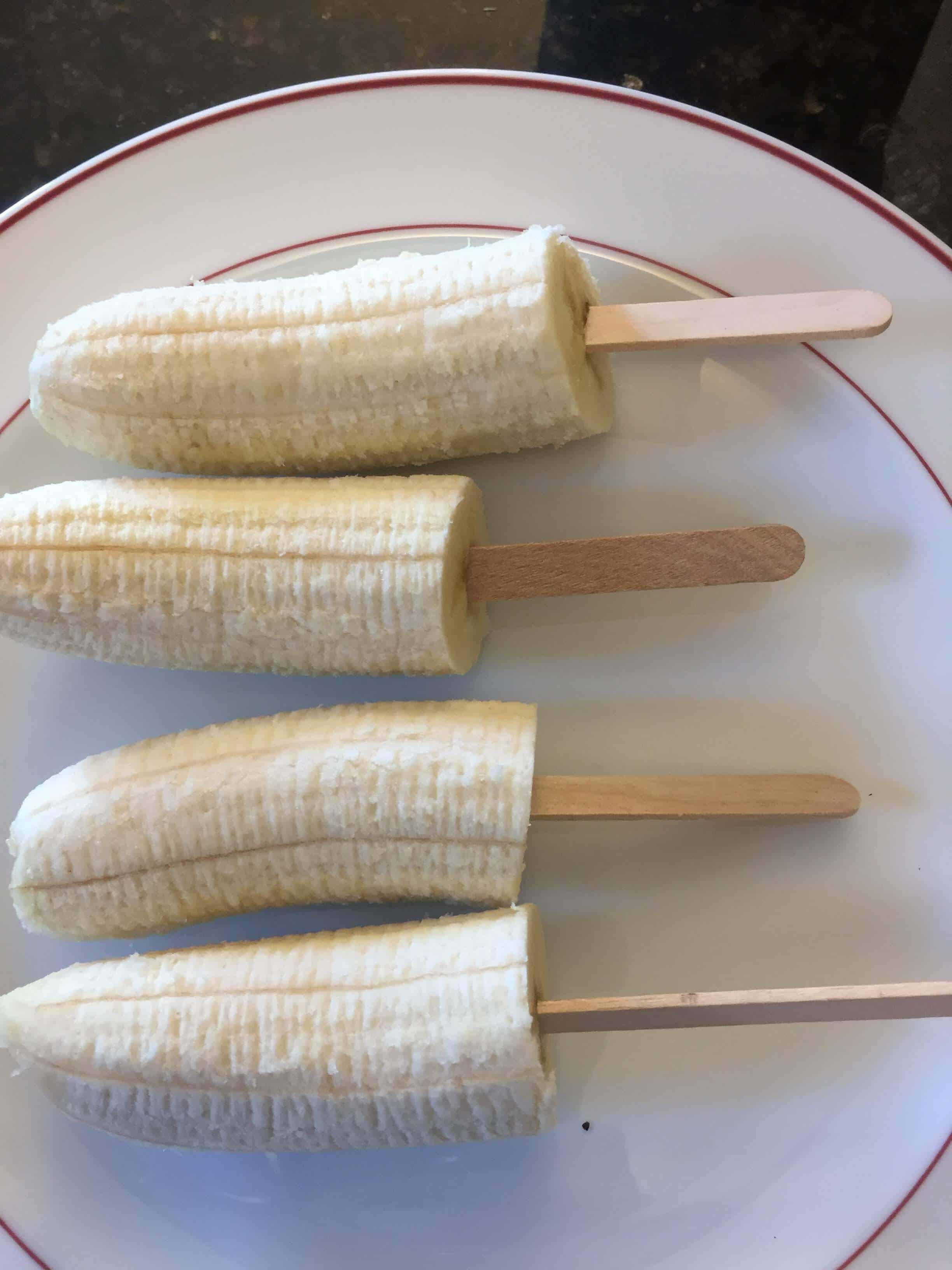 frozen banana pops recipe