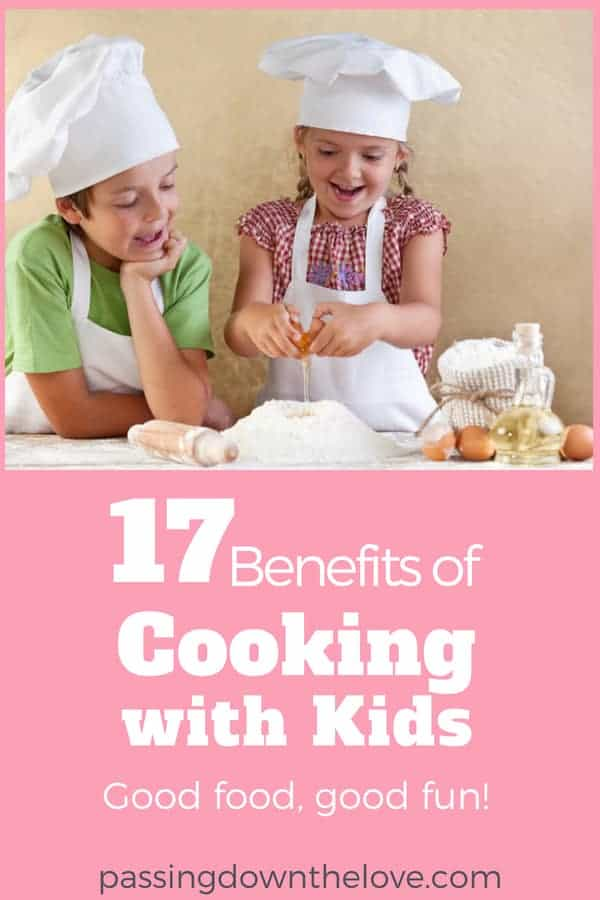 Enjoy the benefits of cooking with kids.  Head to the kitchen.  Whip up a little something.  Get out your camera and take some pictures!  #cookingwithkids #kidfriendly #cookwithkids #kidsinthekitchen #benefitsofcooking
