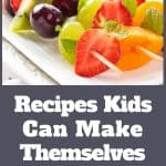 cooking with kids. Recipes kids can make themselves.