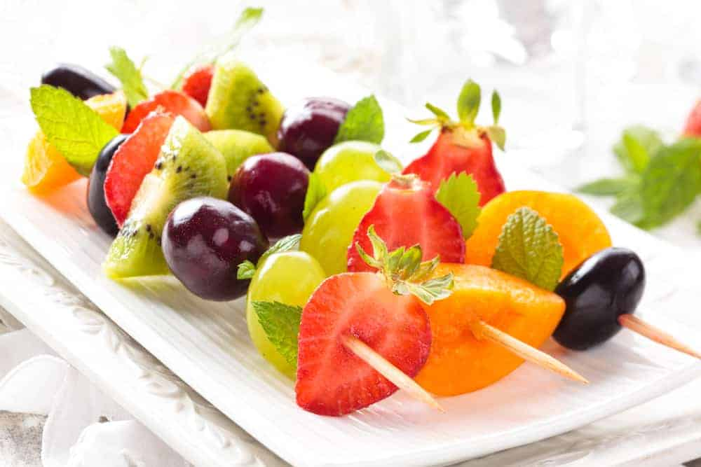 Fruit kabobs kids can make themselves