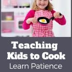 girl with frying pan