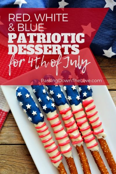 Patriotic red, white, & blue desserts