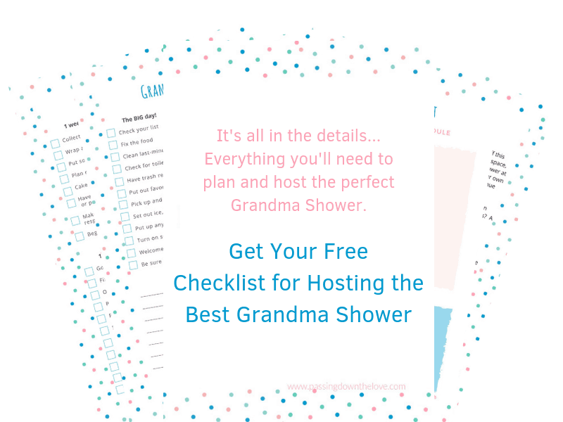 Plan a great shower for a new Grandma