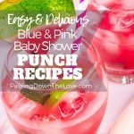 blue and pink baby shower punch