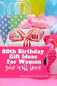 80th birthday gifts she will love