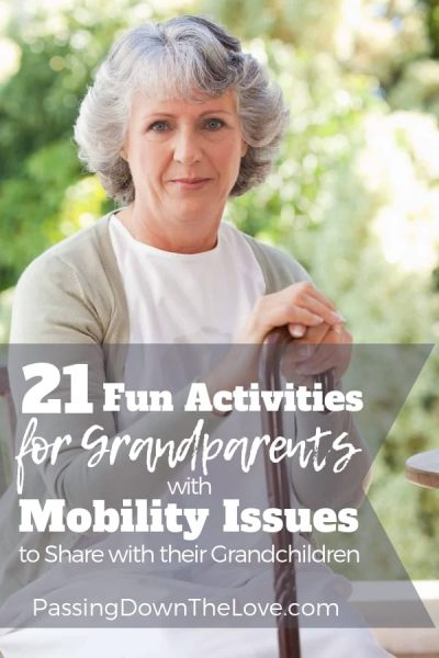 Activities for grandparents with mobility issues