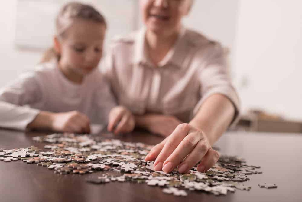 Working a puzzle: Grandparents with limited mobility