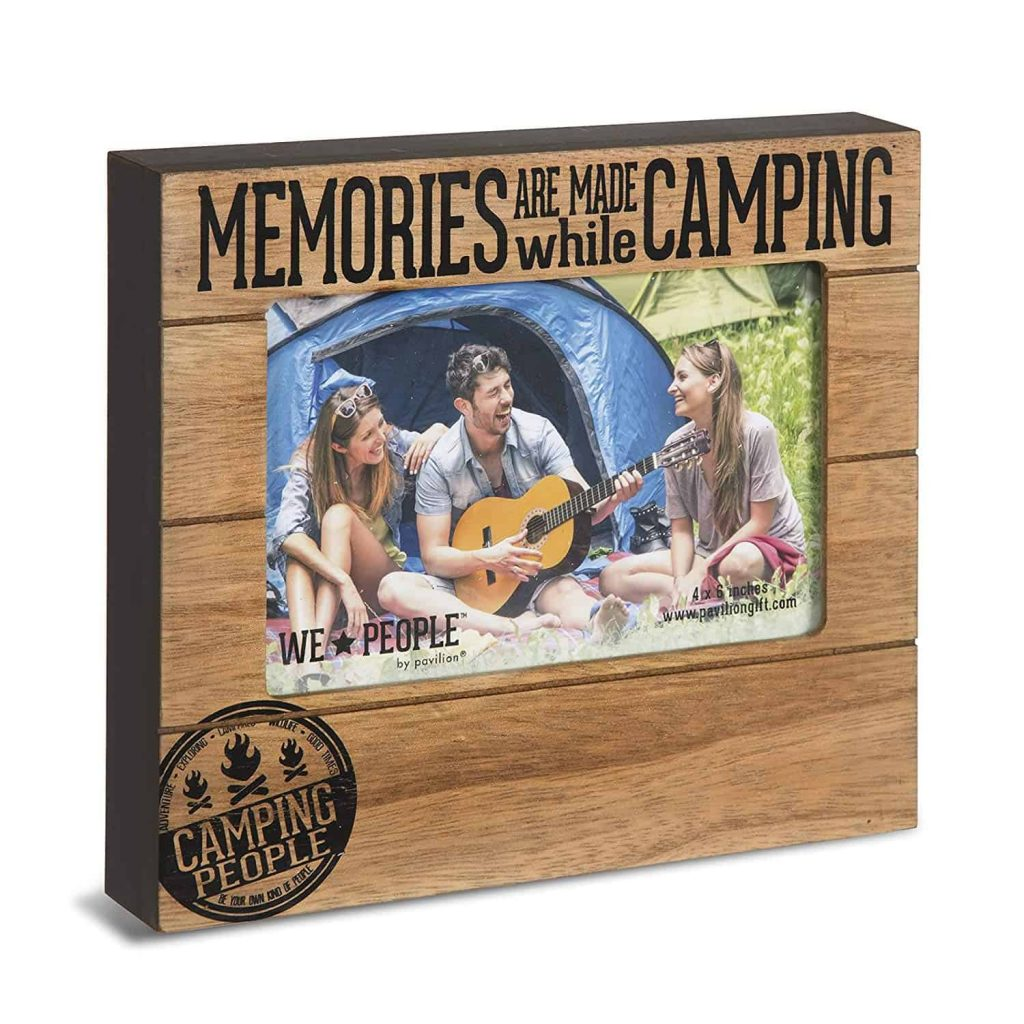 Camping gifts for Grandma: camping photo frame