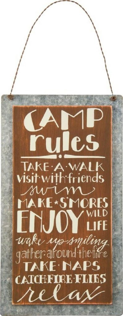 Camping Gifts for Grandmas: primitive camping sign