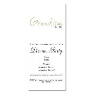 Grandma Shower Invitation