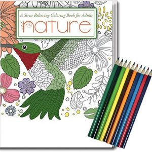 Nature coloring book gift