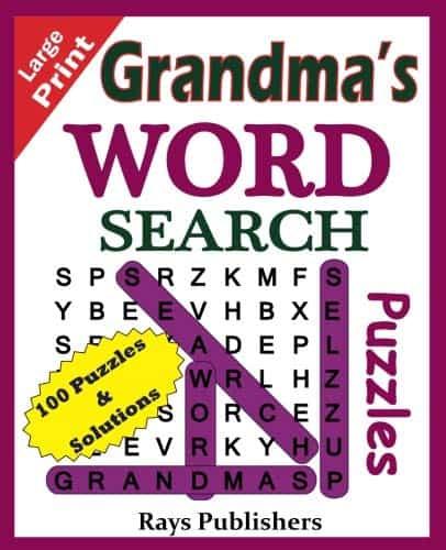word search for Grandmas