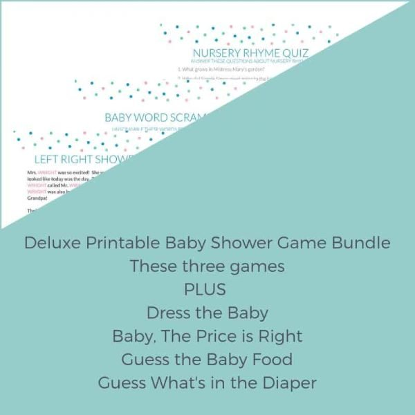Deluxe Printable Shower Game Bundle