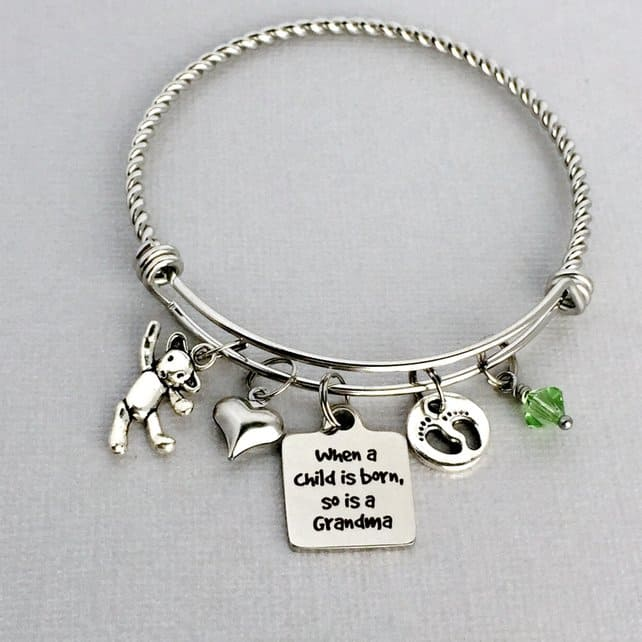 New Grandma Bracelet Gift ideas for new Grandmas