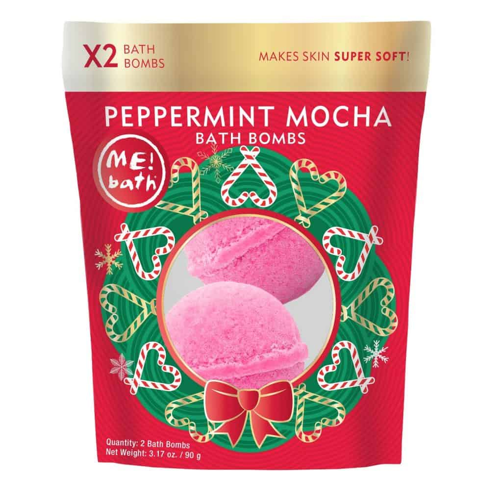 Peppermint Mocha Bath Bombs make a great 60th birthday gift for her!