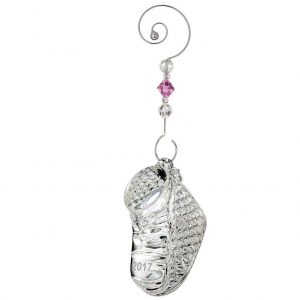 Silver Baby Shoe First Christmas Ornament